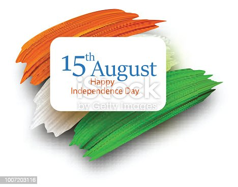 Ilustración de Día De La Independencia De La India 15 De Agosto ...