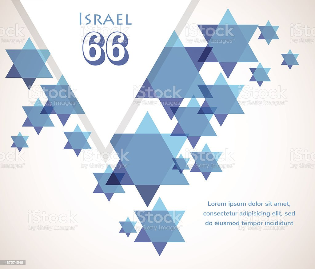 Independence day of Israel. David star background vector art illustration