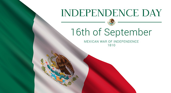 Independence Day of Mexico banner design template.