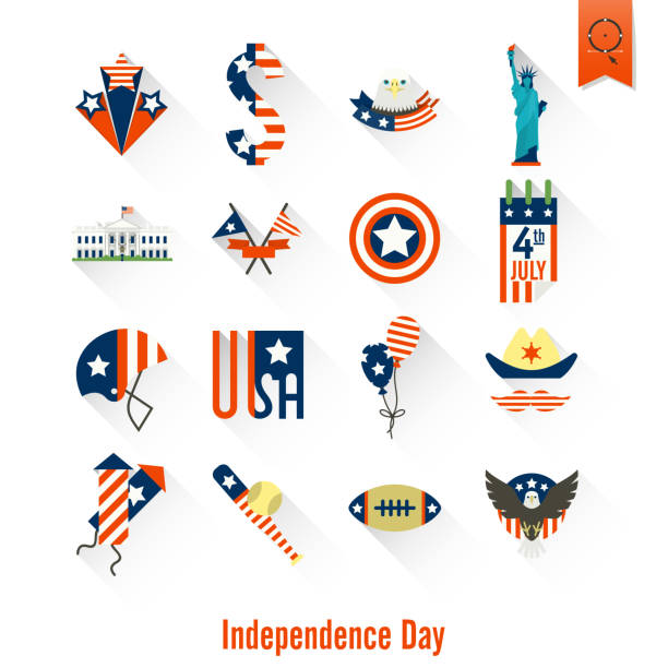 Independence Day of the United States vector art illustration