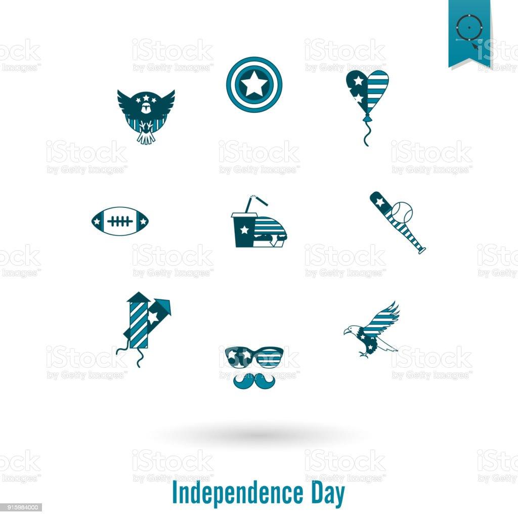 Tag Der Unabhängigkeit Von Den Vereinigten Staaten Stock Vektor Art