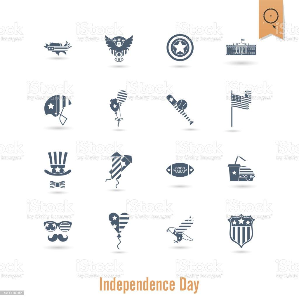 Bağımsızlık günü Amerika Birleşik Devletleri - Royalty-free 4 Rakamı Vector Art