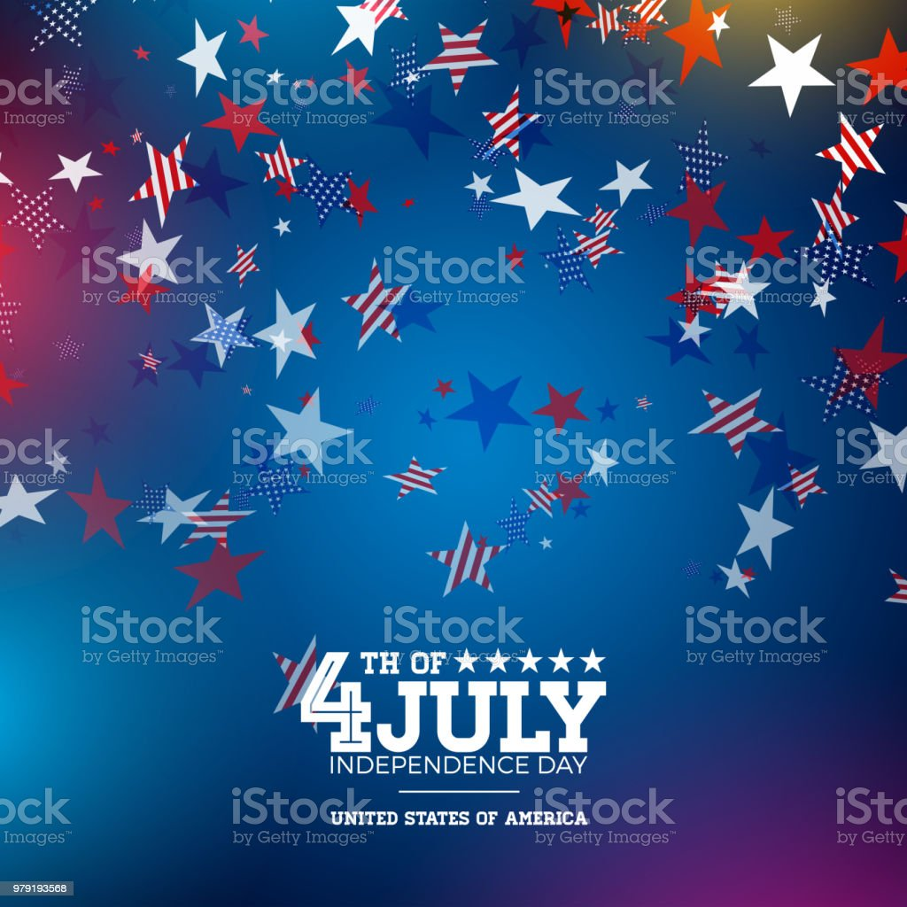 Independence Day Of The Usa Vector Illustration Fourth Of July ...