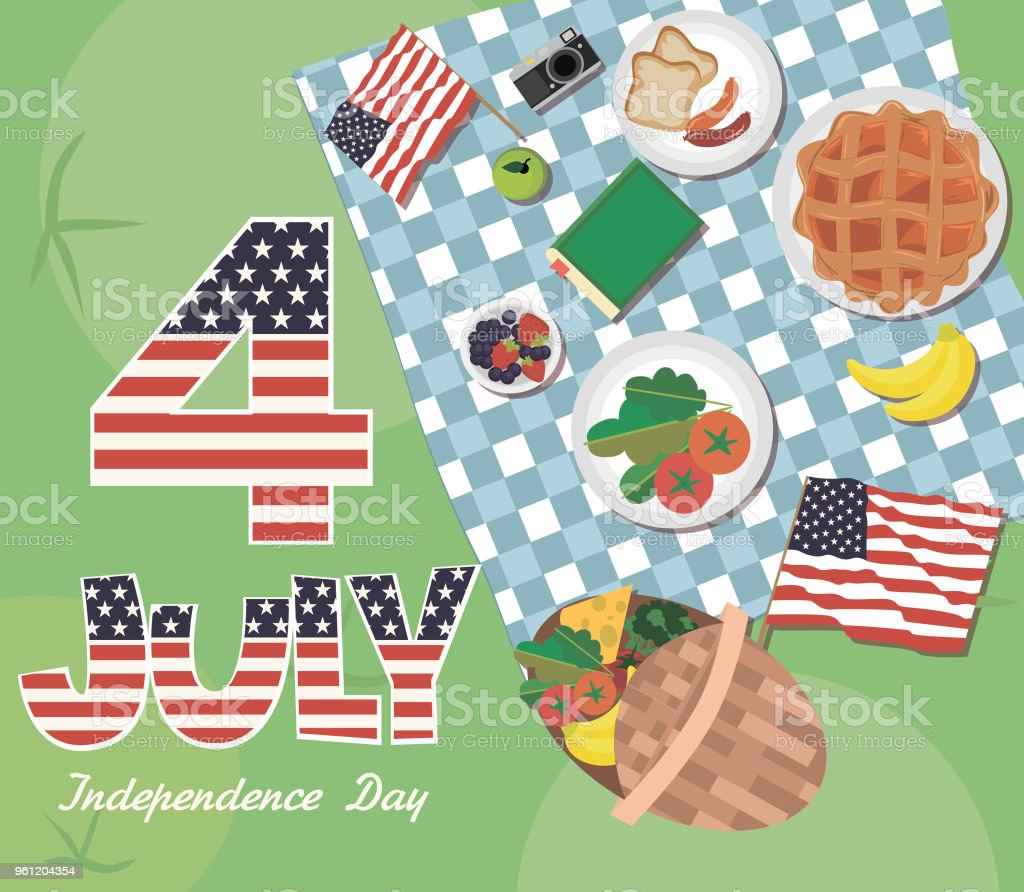 Independence day of united states of america greeting poster picnic independence day of united states of america greeting poster picnic party royalty free independence m4hsunfo