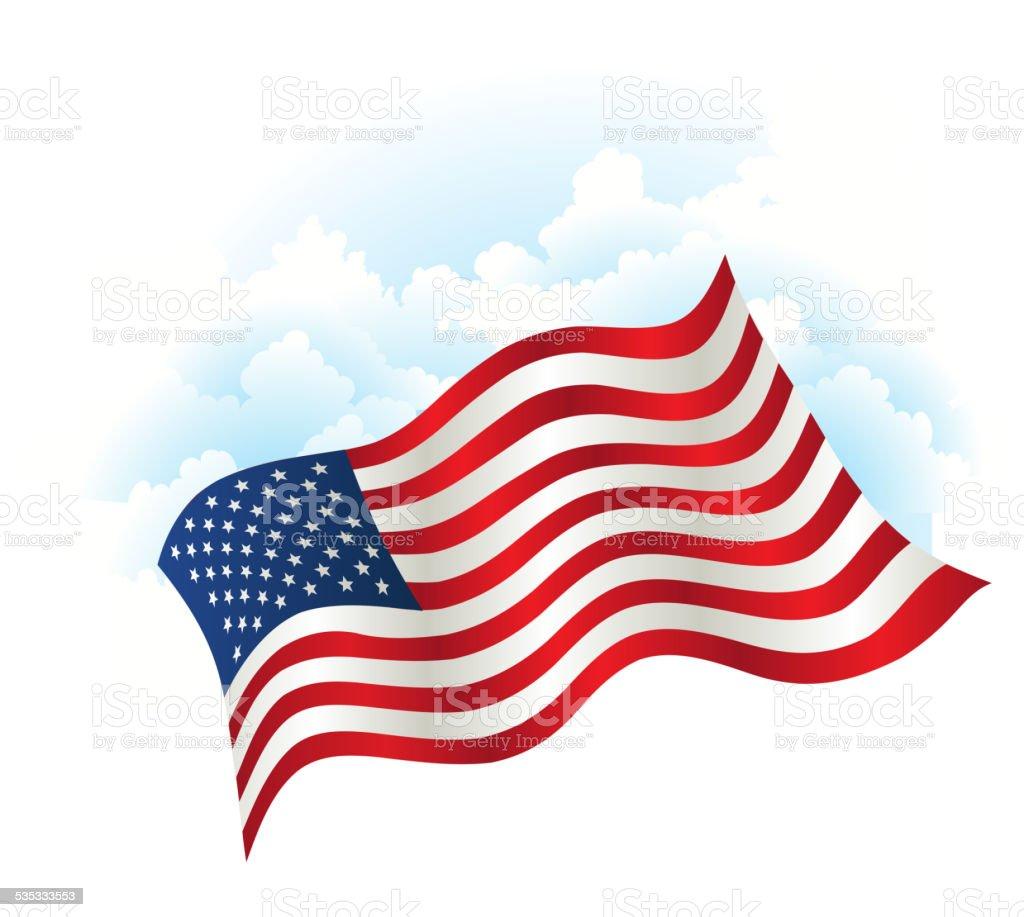 Independence Day patriotic background vector art illustration