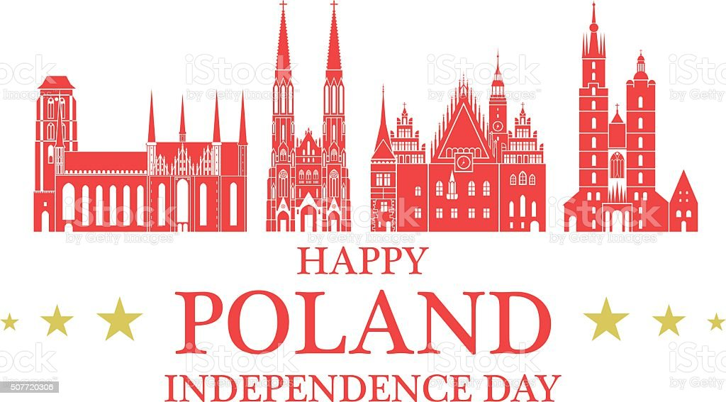 Independence Day. Poland vector art illustration