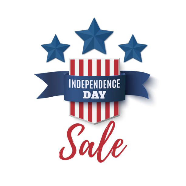 Independence Day, sale background. 4th of July. vector art illustration