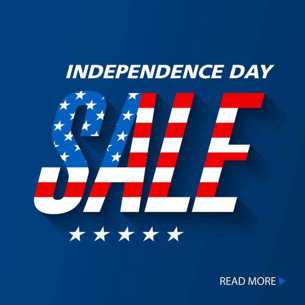 Independence Day Sale banner vector art illustration