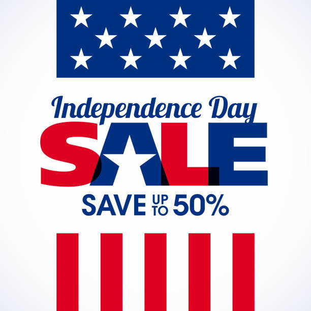 USA Independence Day sale banner vector art illustration
