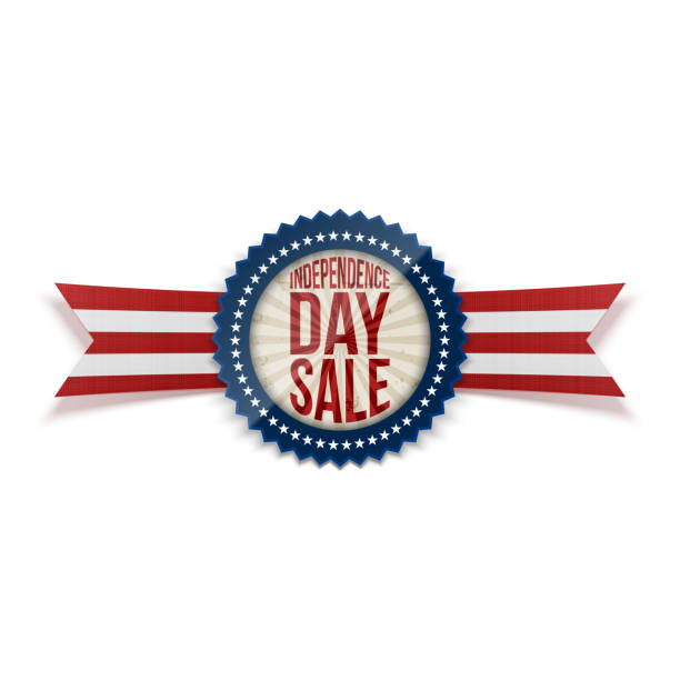 Independence Day Sale patriotic Badge vector art illustration