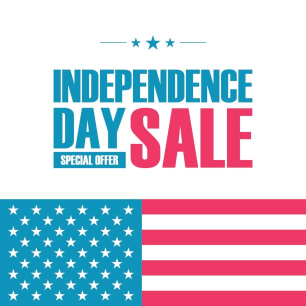 USA Independence Day Sale special offer banner for business, promotion and advertising. vector art illustration