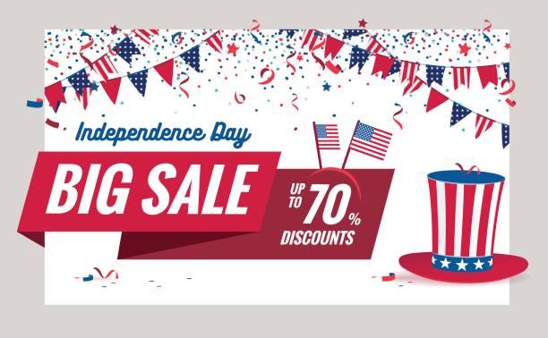 USA Independence day Sale vector illustration. vector art illustration