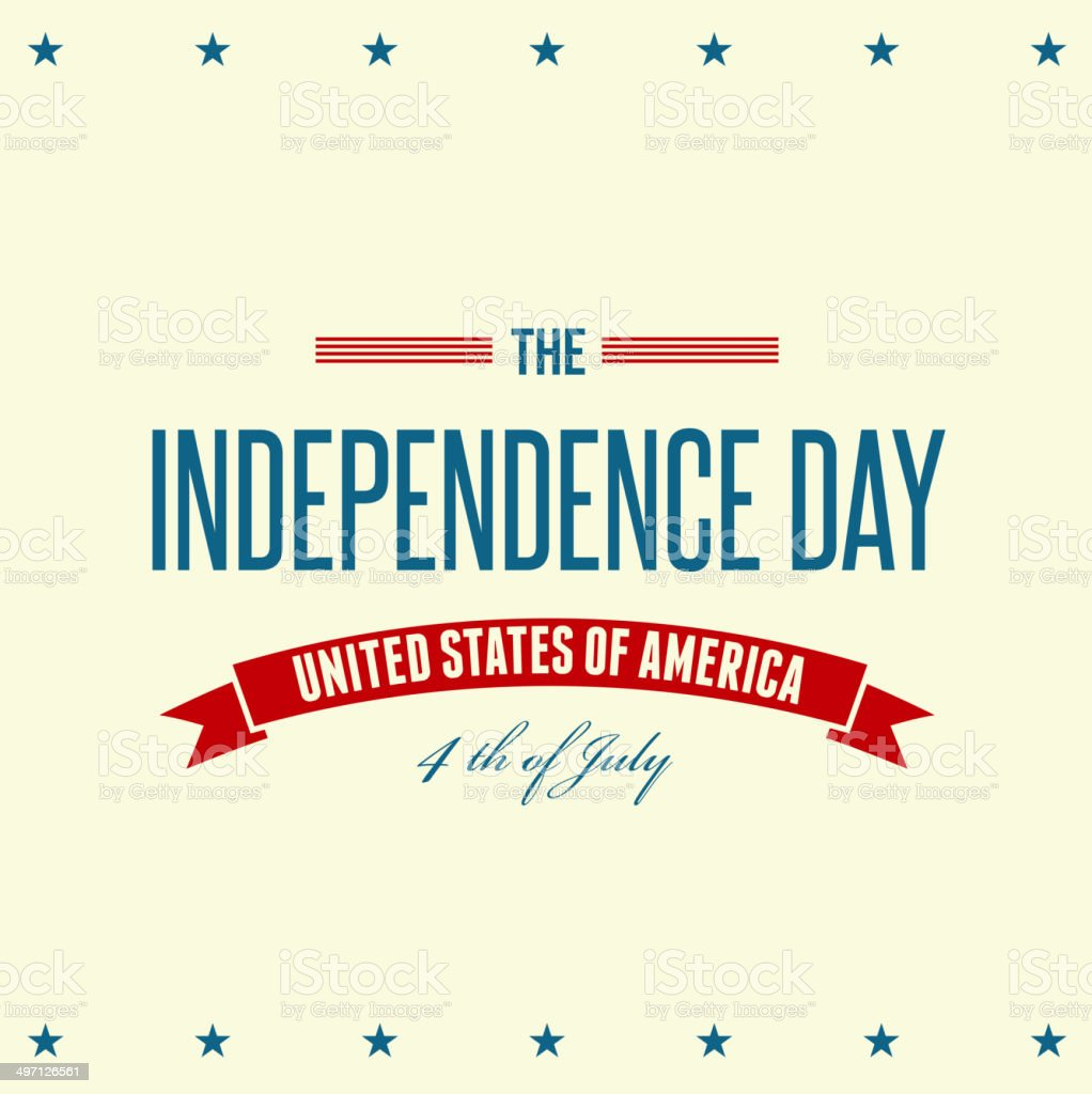 Independence Day sign background royalty-free stock vector art