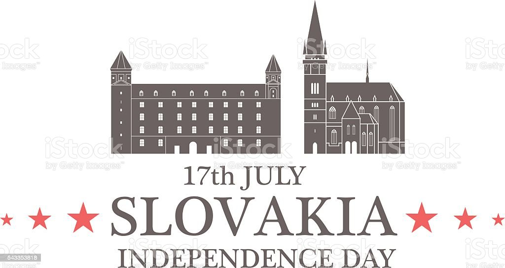 Independence Day. Slovakia vector art illustration
