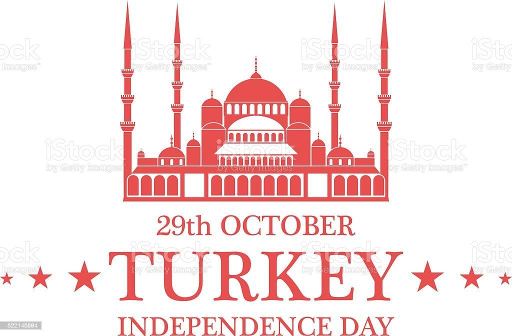 Independence Day. Turkey vector art illustration