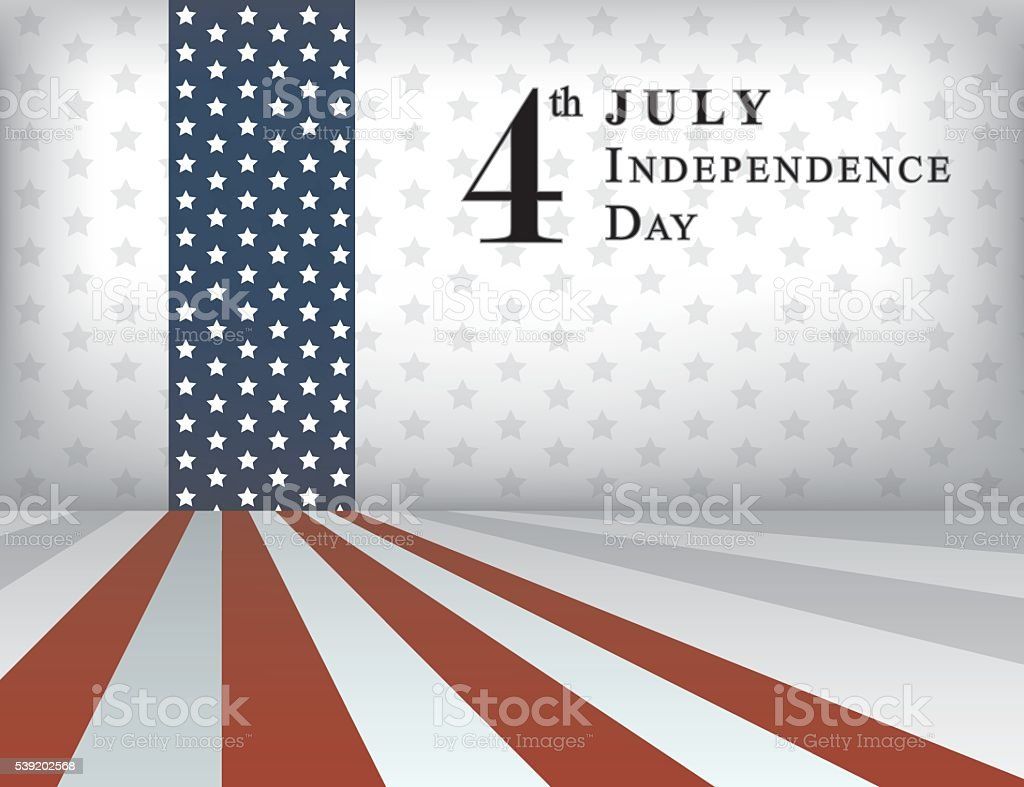 Independence Day United States Flag Background vector art illustration