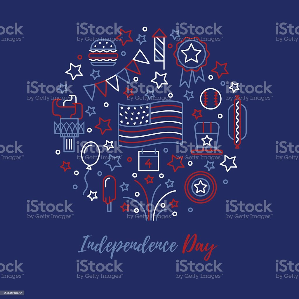 Independence Day vector concept. vector art illustration