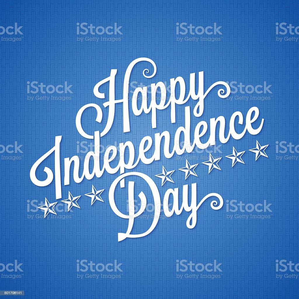 independence day vintage lettering background vector art illustration