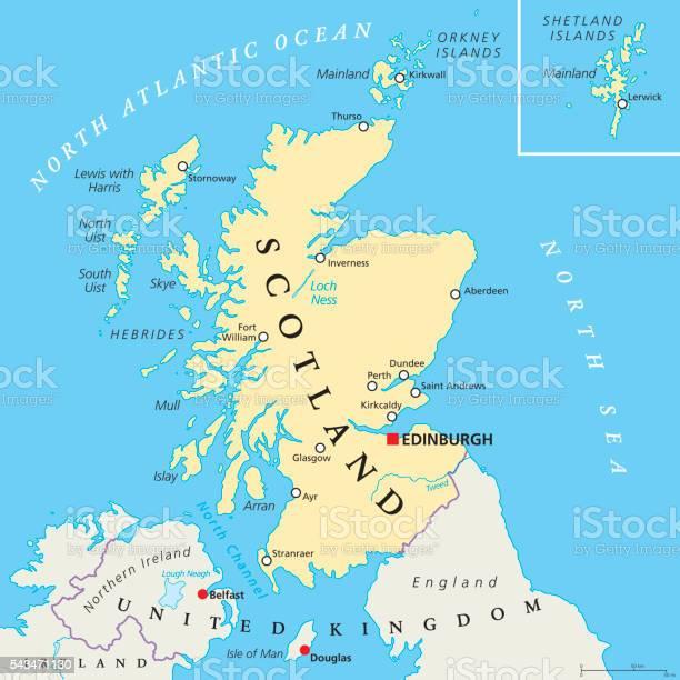 Cartina Geografica Dettagliata Scozia.Mappa Politica Indipendente Scozia Immagini Vettoriali Stock E Altre Immagini Di Aberdeen Scozia Istock