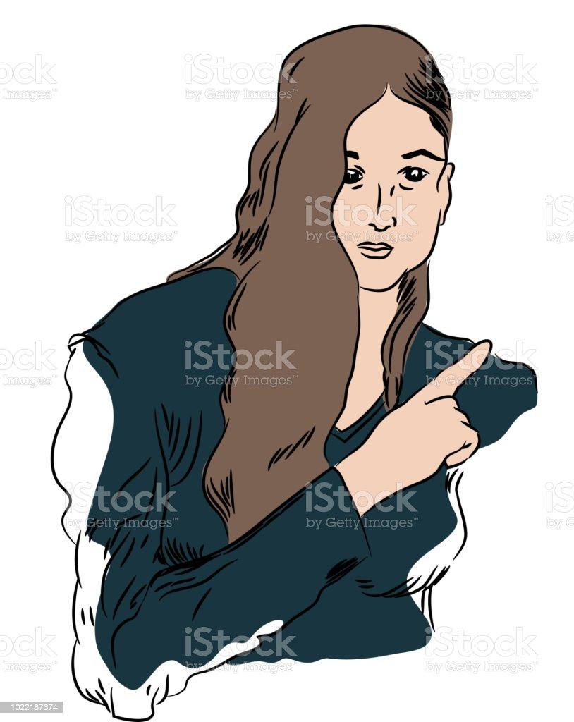 işaret parmağı vektör sanat illüstrasyonu