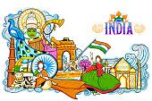 India background showing its incredible culture and diversity with monument