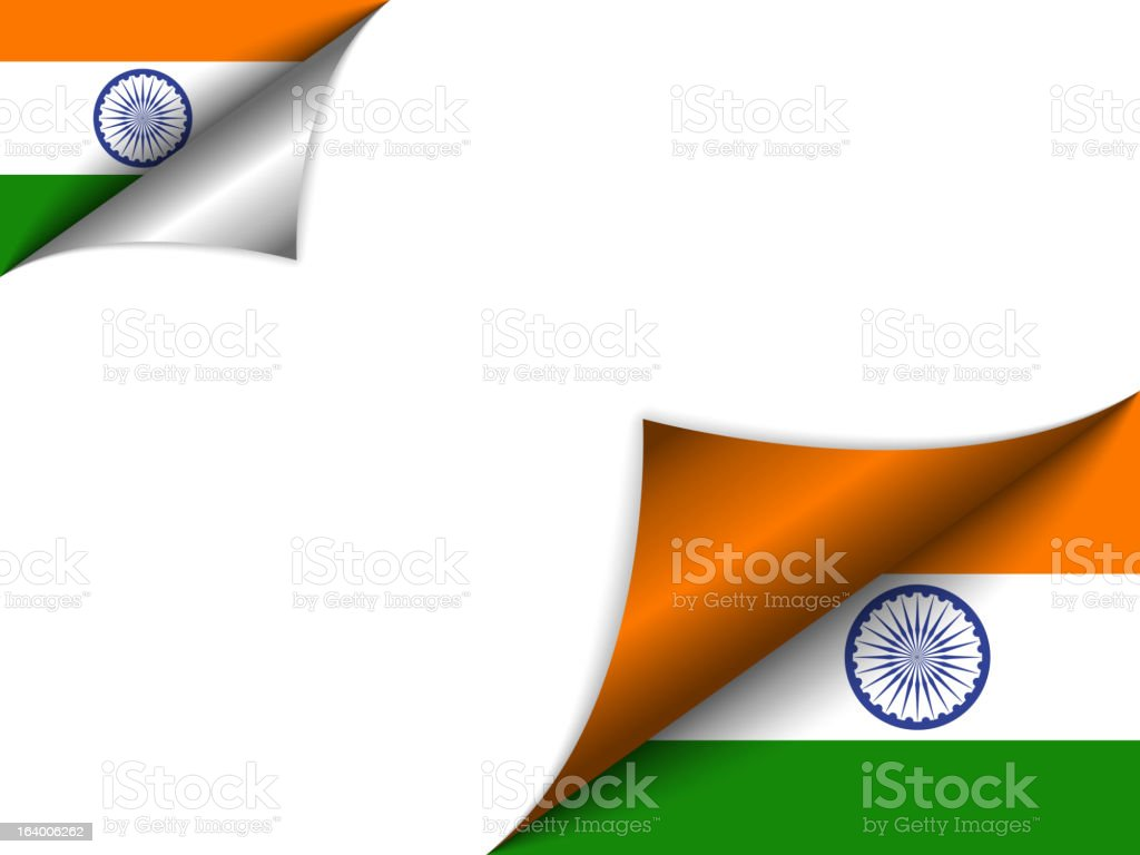 India Country Flag Turning Page vector art illustration