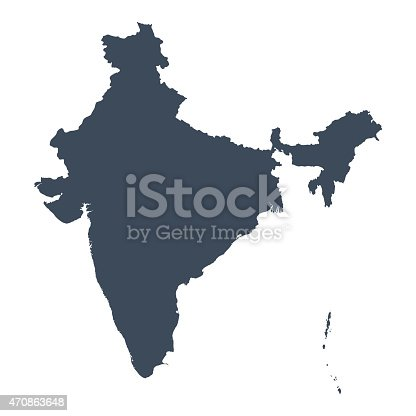 istock India country map 470863648