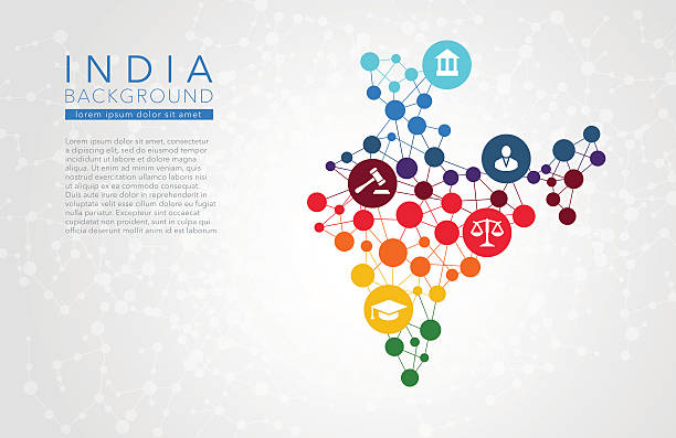 India dotted vector background India dotted vector background conceptual infographic report budget patterns stock illustrations