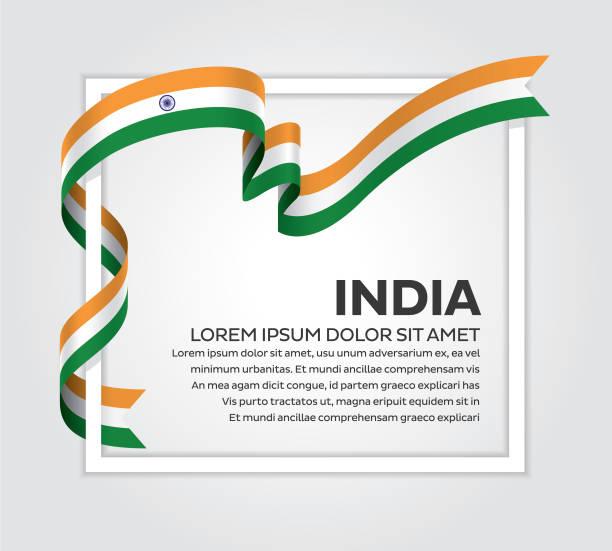인도 플랙 배경기술 - independence day stock illustrations