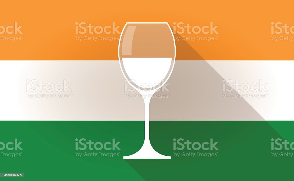 India flag icon with a glass vector art illustration