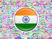 India Flag on People royalty free vector art Pattern