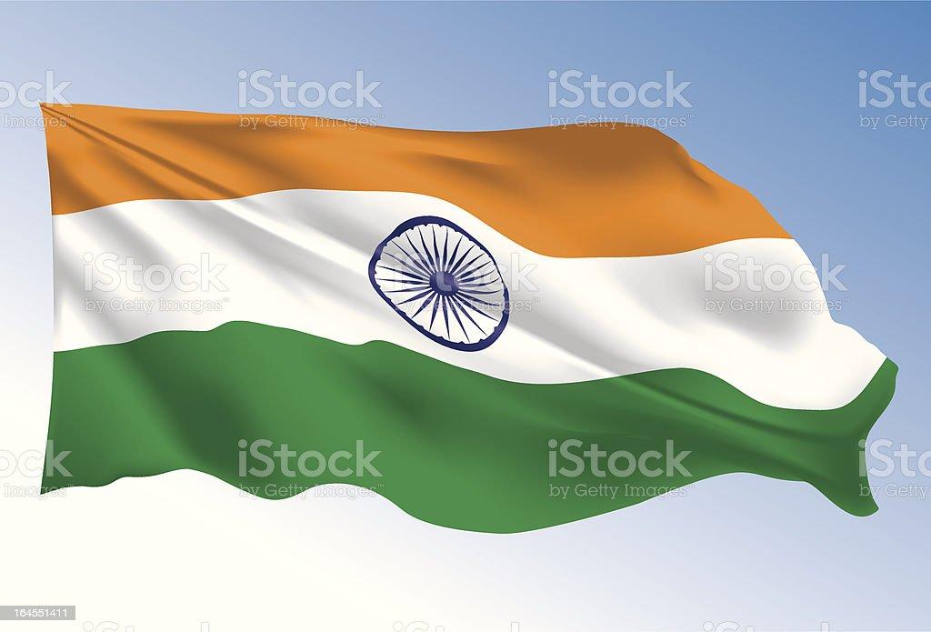 India Flag vector art illustration