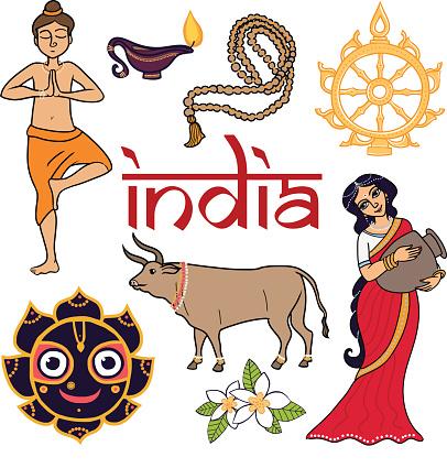 India icons.