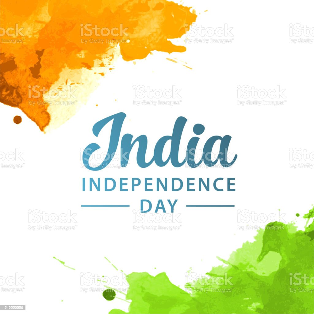 India independence vector art illustration