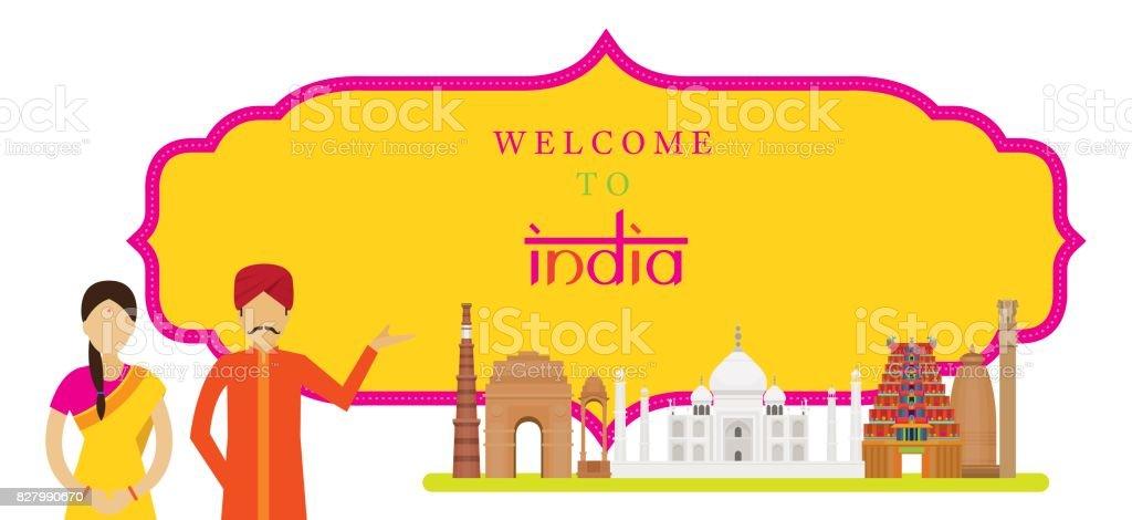 Indiensehenswürdigkeiten Mit Menschen In Traditioneller Kleidung ...