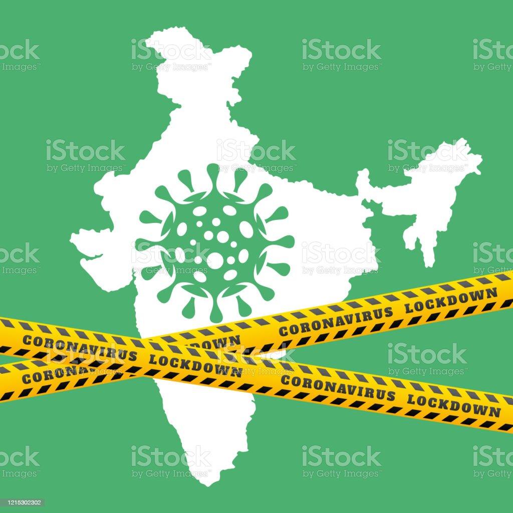 India Lockdown Due To Coronavirus Concept Background Stock ...