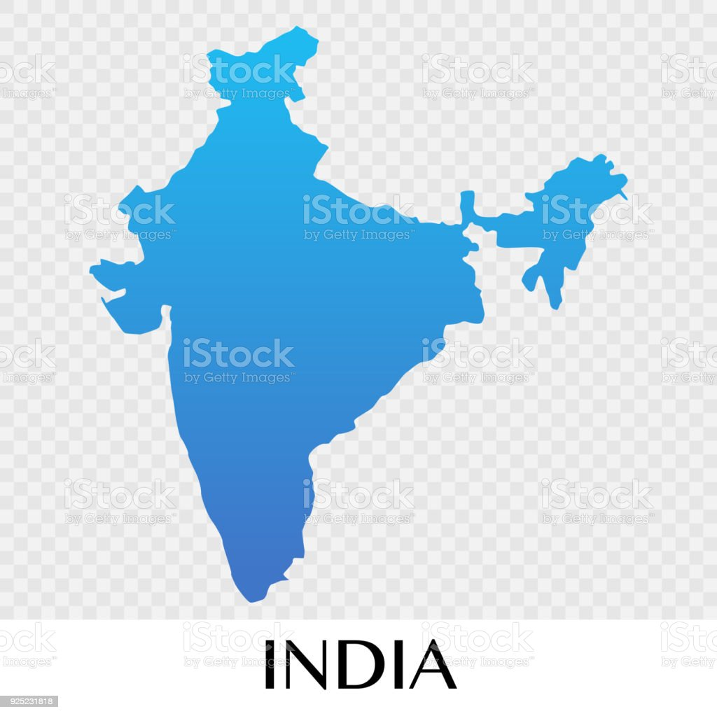 india map in asia continent illustration design royalty free india map in asia continent illustration