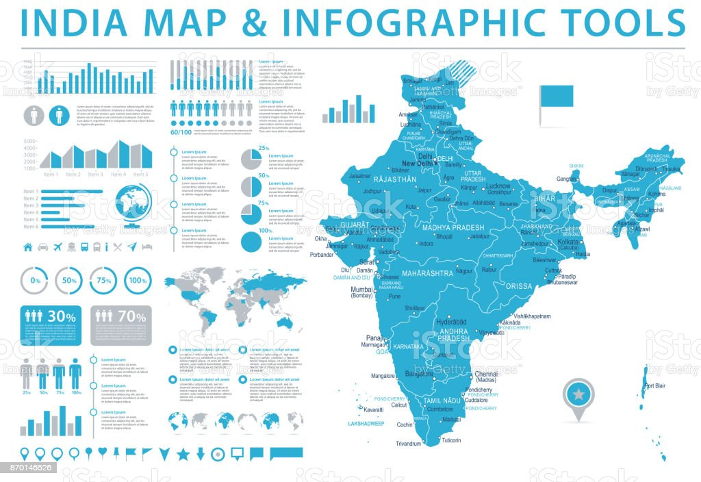 India map info graphic vector illustration stock vector art more india map info graphic vector illustration royalty free india map info graphic vector illustration gumiabroncs Images