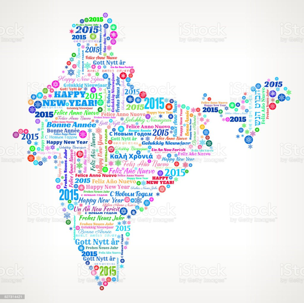 India map on international new year wordcloud pattern stock vector india map on international new year wordcloud pattern royalty free india map on international new gumiabroncs Choice Image