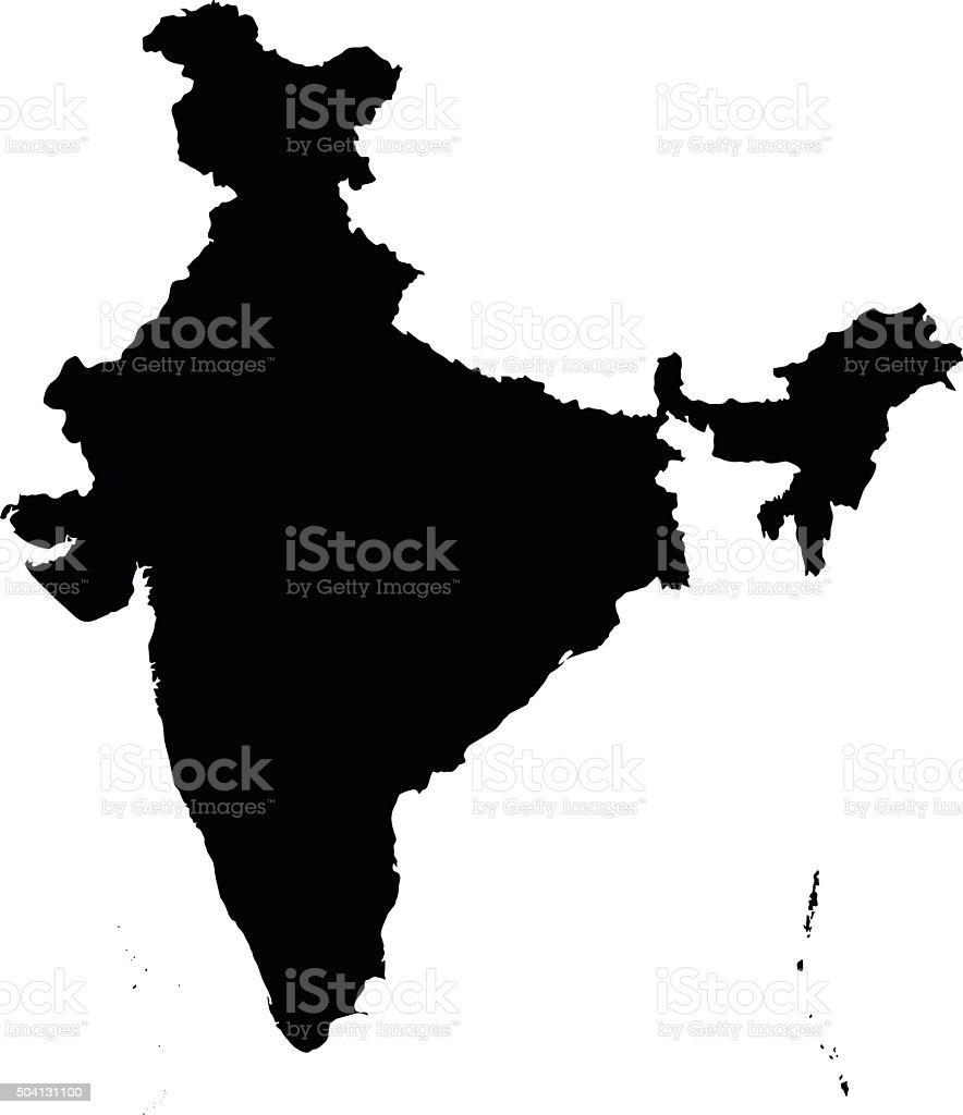 India map on white background vector vector art illustration