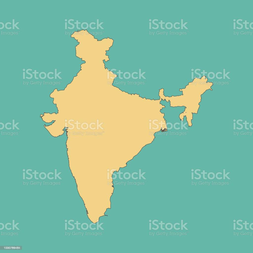 Carte Asie Inde.Carte De Linde Vecteurs Libres De Droits Et Plus D Images