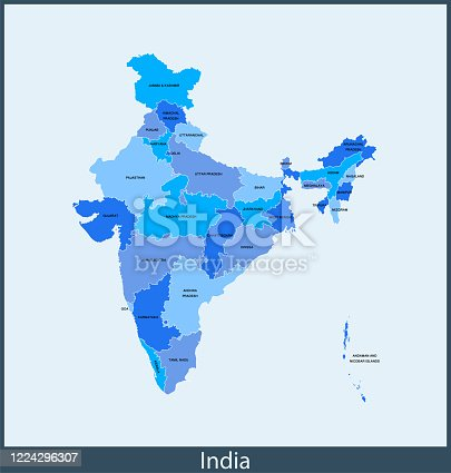 vector of India map