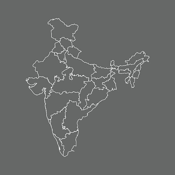 Indie Mapa – artystyczna grafika wektorowa