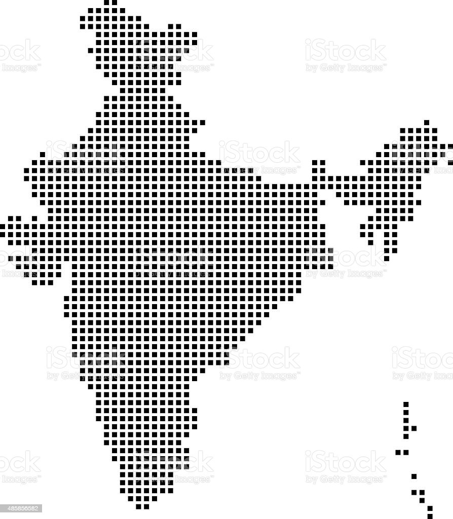 India Map vector art illustration