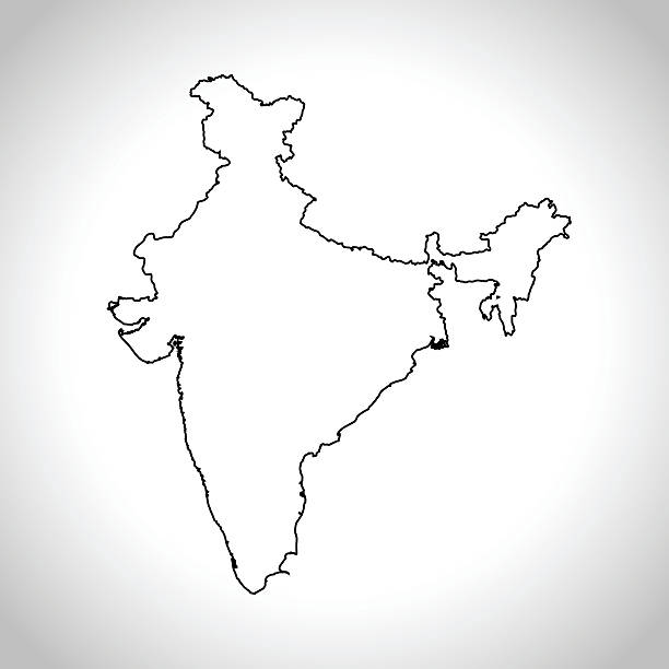 Top 60 India Map Outline White Background Clip Art, Vector Graphics ...