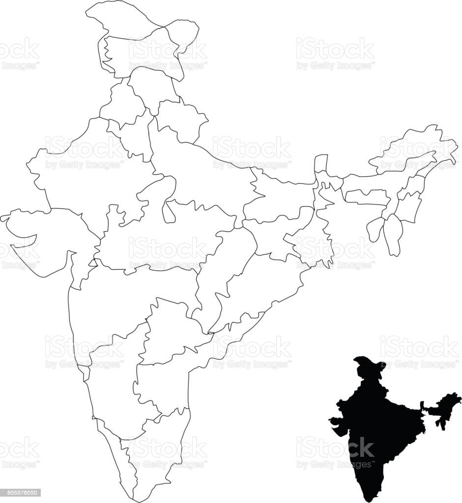India Map Royalty Free India Map Stock Vector Art U0026amp; ...