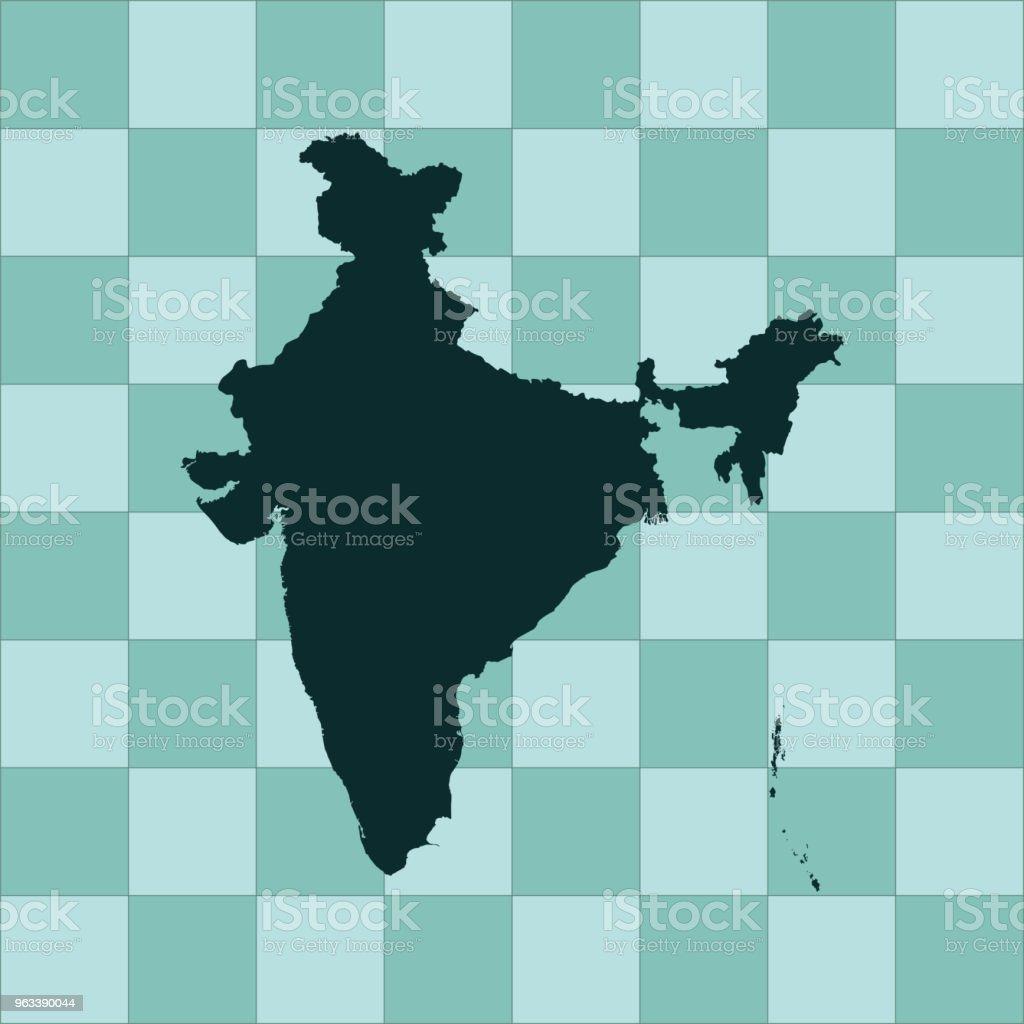 India map - Grafika wektorowa royalty-free (Azja)