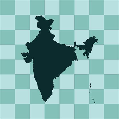 India Map - Stockowe grafiki wektorowe i więcej obrazów Azja