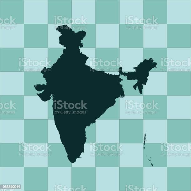 Mapa Indii - Stockowe grafiki wektorowe i więcej obrazów Azja