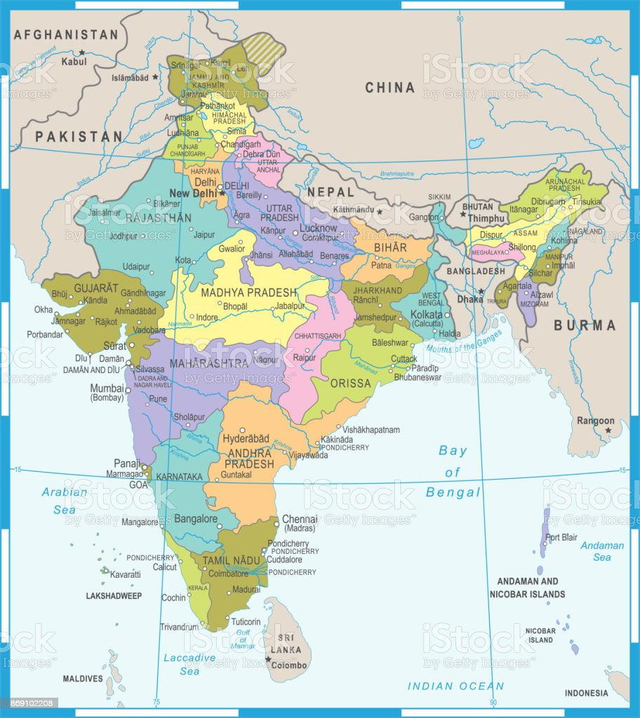 India map vector illustration stock vector art more images of asia india map vector illustration royalty free india map vector illustration stock vector art amp gumiabroncs Choice Image